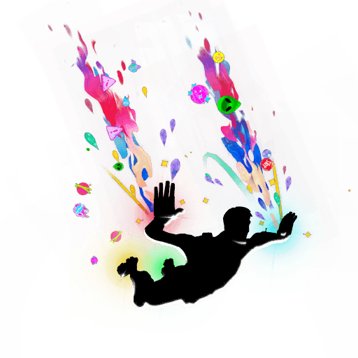 Cluttered Skydiving Trail icon